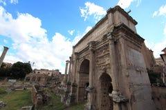 Roman ruins in Rome. Fori Imperiali stock images
