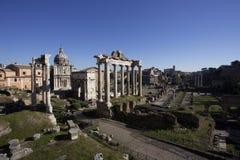 Roman ruins in Rome, Fori Imperiali.  Stock Images