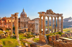 Roman ruins in Rome, Forum. Roman ruins in Rome, Italy Royalty Free Stock Photo