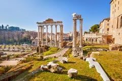 Roman ruins in Rome, Forum. Roman ruins in Rome, Italy Stock Image