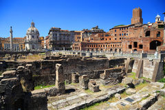 Roman ruins in Rome Stock Photography