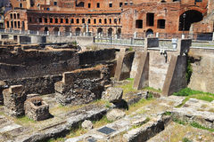 Roman ruins in Rome Stock Photo