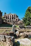 Roman ruins in Rome Stock Images