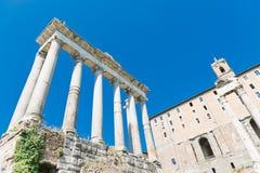 Roman ruins in Rome Stock Image