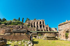 Roman ruins in Rome, Forum Stock Photography