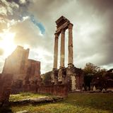 Roman ruins in Rome Royalty Free Stock Photos