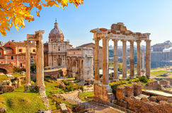 Roman ruins in Rome, Forum. Roman ruins in Rome, Italy Royalty Free Stock Photos