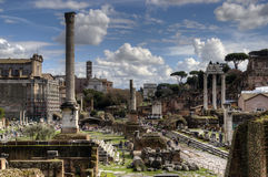Roman ruins in Rome. Stock Photos