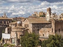 Roman ruins in Rome. Roman ruins in Rome, Italy Royalty Free Stock Photos