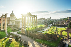 Roman ruins in Rome Royalty Free Stock Photography