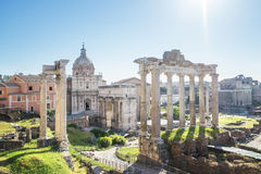 Roman ruins in Rome, Italy Stock Image