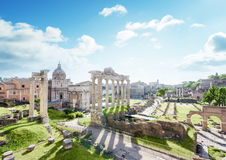 Roman ruins in Rome, Italy Royalty Free Stock Photo