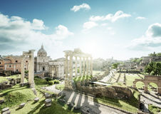 Roman ruins in Rome, Italy Royalty Free Stock Images