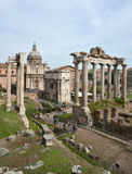 Roman ruins in Rome. Royalty Free Stock Image