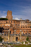 Roman ruins in Rome Italy Royalty Free Stock Image