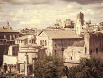 Roman ruins in Rome, Italy. Retro styled Stock Photos