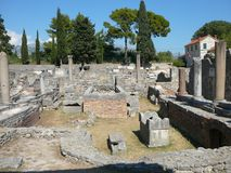 Roman ruins in Salona Royalty Free Stock Image