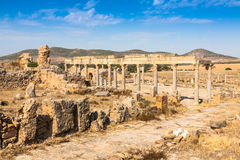 Roman ruins Sanctuaire Esculape Thuburbo Majus Tunisia Royalty Free Stock Photography