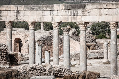 Roman ruins Sanctuaire Esculape Thuburbo Majus Tunisia Royalty Free Stock Photos