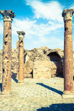Roman ruins Sanctuaire Esculape Thuburbo Majus Tunisia Royalty Free Stock Photos
