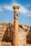 Roman ruins Sanctuaire Esculape Thuburbo Majus Tunisia Stock Image