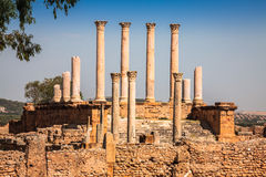 Roman ruins Sanctuaire Esculape Thuburbo Majus Tunisia. Africa Stock Photography