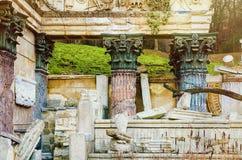 The Roman Ruins. In The Schönbrunn Palace Garden. Vienna, Austria Royalty Free Stock Image