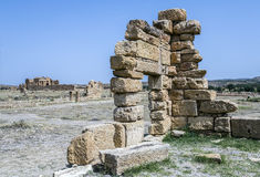 Roman ruins of Sufetula near Sbeitla Royalty Free Stock Photography