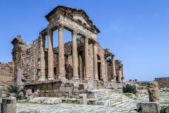 Roman ruins of Sufetula near Sbeitla Royalty Free Stock Image