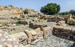 Roman ruins of Sufetula near Sbeitla Royalty Free Stock Photography