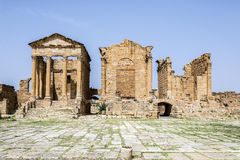Roman ruins of Sufetula near Sbeitla Royalty Free Stock Images