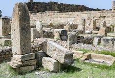 Roman ruins of Sufetula near Sbeitla Stock Photos