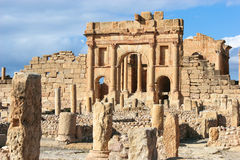 Roman ruins of Sufetula, Tunisia Stock Images