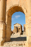 Roman ruins of Sufetula, Tunisia Stock Photos