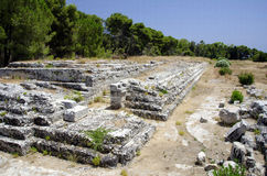 Roman ruins in syracuse Royalty Free Stock Images