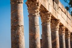 Roman ruins in Thuburbo Majus, Tunisia Royalty Free Stock Photos
