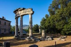 Roman Ruins at Tivoli Italy Stock Photography