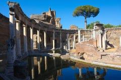 Roman Ruins at Tivoli Italy Stock Image
