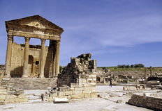 Roman ruins- Tunisia Stock Photo