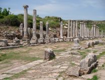 Roman Ruins in Turkije Stock Fotografie