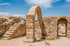 Roman ruins, Um Ar-Rasas, Jordan. S, desert royalty free stock photos