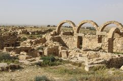 Roman ruins in Umm ar-Rasas,an archeological site in Jordan.UNESCO World Heritage List. Roman ruins in Umm ar-Rasas,an archeological site in Jordan. UNESCO World stock photo