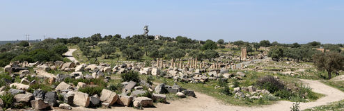 Roman ruins at Umm Qais (Umm Qays), Jordan Royalty Free Stock Photo