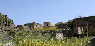 Roman ruins at Umm Qais (Umm Qays) --is a town in northern Jordan near the site of the ancient town of Gadara. Stock Image