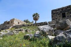 Roman ruins at Umm Qais (Umm Qays) --is a town in northern Jordan near the site of the ancient town of Gadara. Stock Photo