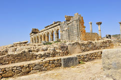 Roman Ruins of Volubillis. Excavations of the ancient roman ruins of volubillis Royalty Free Stock Photography