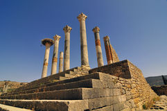 Roman Ruins of Volubillis. Excavations of the ancient roman ruins of volubillis Royalty Free Stock Photos