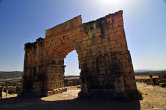 Roman Ruins of Volubillis Royalty Free Stock Photography
