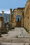 Roman ruins at Volubilus, Morocco Stock Photo