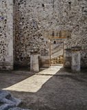 Roman ruins wall gate Royalty Free Stock Images